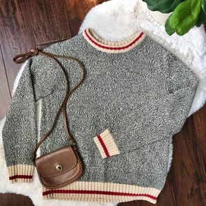 roots | cabin knit crew neck sweater